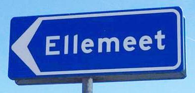 gemeente bord Ellemeet